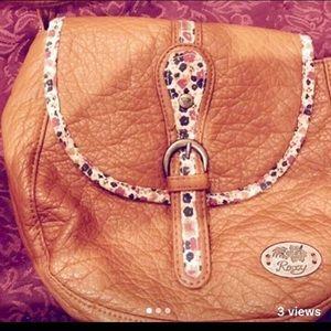 Tan Roxy crossbody purse